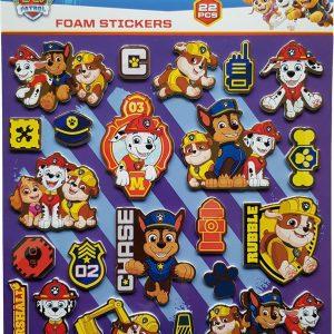 """Foam Stickers """"Paw Patrol Blauw"""" +/- 22 Stickers"""