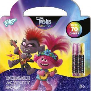 Trolls Designer activiteiten boek - 70 delig teken- en activiteitenboek - leuk voor onderweg en op reis - creatief met Trolls