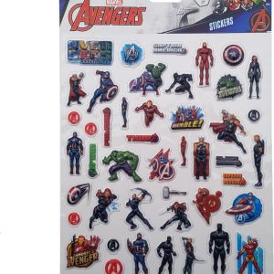 "Bubbel-stickers ""Avengers"" +/- 50 Stickers"