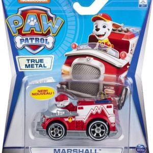 Paw Patrol Die cast brandweer voertuig -  Marshall - 7 cm - rood/wit