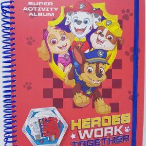 PAW PATROL - CREATIEF - KNUTSELBOEK - tekenboek - kleurboek - stickervellen - gum - puntenslijper - krijtjes - stiften - patronen