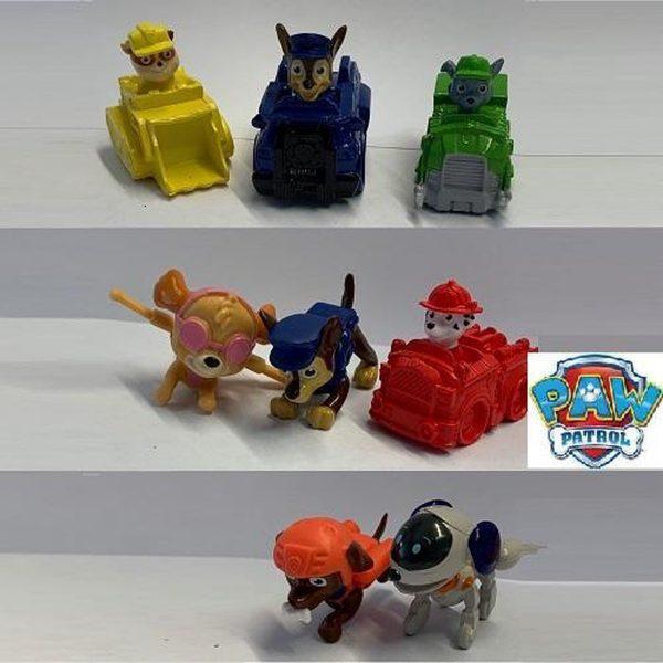 8x Paw Patrol potloodtoppers / speelfiguren (+/- 5 cm)