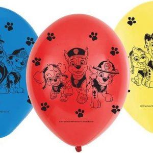 6x Paw Patrol ballonnen versiering voor een Paw Patrol themafeestje - thema feest ballon kinderfeestje/verjaardag