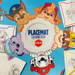 Nickelodeon Paw Patrol 12X placemat om in te kleuren