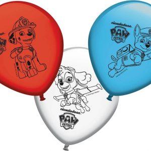 FESTISHOP S.L - 8 Paw Patrol ballonnen - Decoratie > Ballonnen