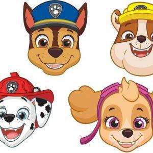 8x Paw Patrol maskers voor een Paw Patrol themafeestje - thema feest  maskers kinderfeestje/verjaardag