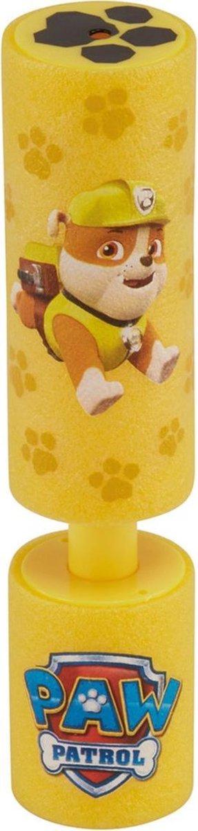 1x Paw Patrol waterpistool/waterpistolen van foam geel - Rubble - 15 cm - Zomerspeelgoed/buitenspeelgoed