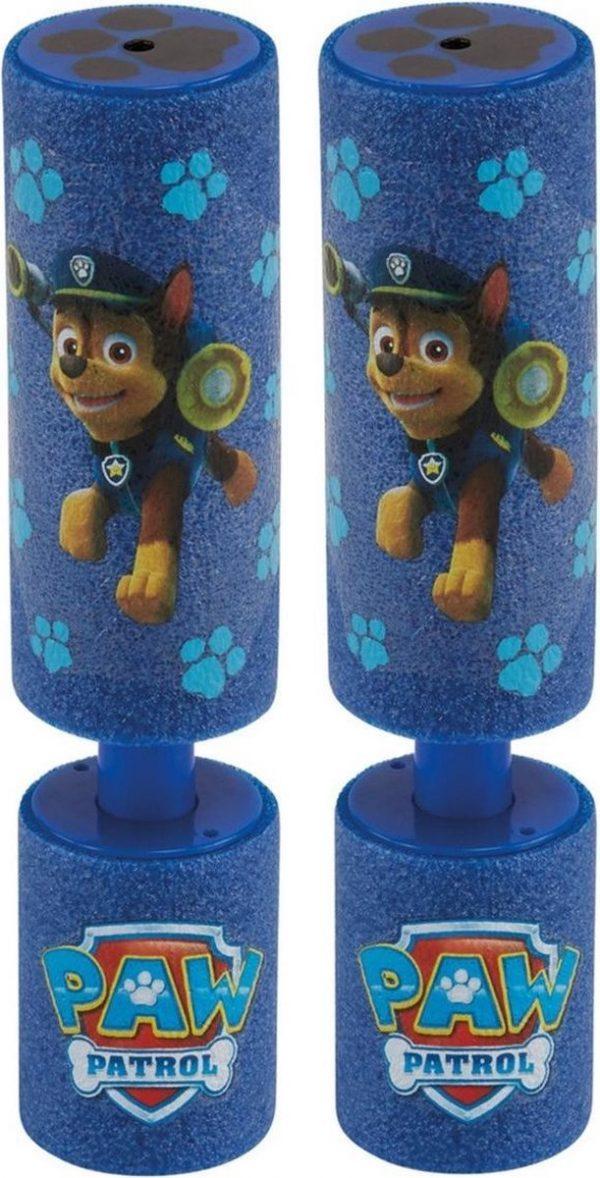 2x Paw Patrol waterpistool/waterpistolen van foam blauw - Chase - 15 cm - Zomerspeelgoed/buitenspeelgoed