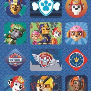 Nickelodeon Stickers Paw Patrol Junior Vinyl Blauw 15 Stuks