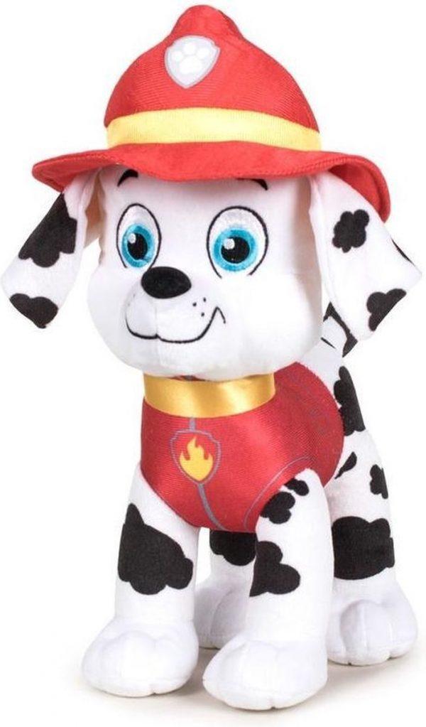 Pluche Paw Patrol knuffel Marshall - Classic New Style - 27 cm - Cartoon knuffels - Speelgoed voor kinderen
