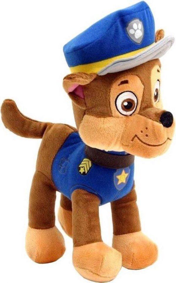 Paw Patrol Knuffel Chase 30 cm | Paw Patrol & Friends | Chase - Rubble - Marshall - Skye - Zuma - Rocky - Ella - Tuck | Nickelodeon | Speelgoed