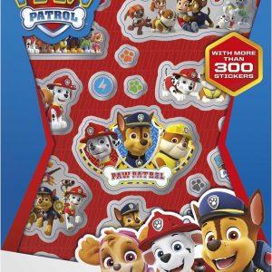 Totum Paw Patrol Stickerboekje met 4 bladen meer dan 300 stickers - kinderstickers