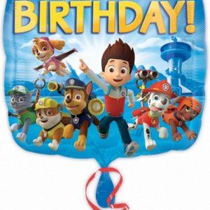 Amscan Paw Patrol Gelukkige Verjaardag Vierkante Folieballon (Blauw)
