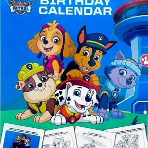 PAW Patrol kleurboek ´verjaardagskalender ´| PAW Patrol Kleurboek |Verjaardagskalender | PAW Patrol speelgoed | Tekenen | Kleuren | Stickers | Kleurpotloden | Tekenset voor kinderen