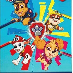 Paw patrol kleurboek blauw a4 + stickers