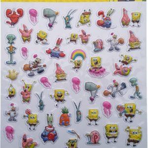 "Bubbel-stickers ""Spongebob"" +/- 50 Stickers"