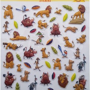 "Bubbel-stickers ""The Lion king"" +/- 50 Stickers"