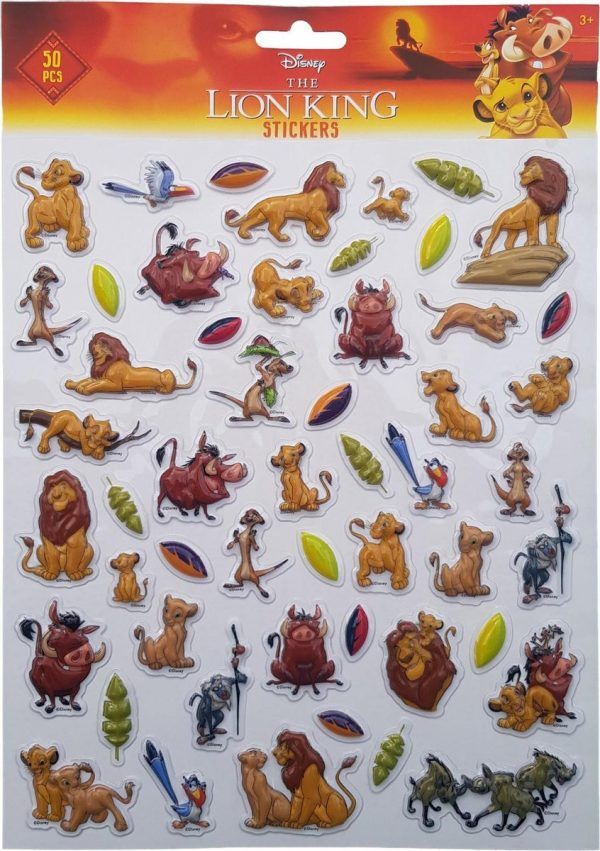 """Bubbel-stickers """"The Lion king"""" +/- 50 Stickers"""