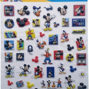 "Bubbel-stickers ""Mickey & Friends"" +/- 50 Stickers"
