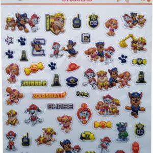 "Bubbel-stickers ""Paw Patrol"" +/- 50 Stickers"
