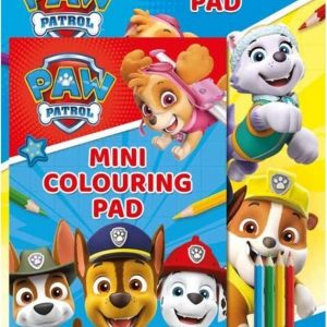 NICKOLODEON - paw patrol tekenset met 2 kleurboeken A4 en A5 formaat met potloden