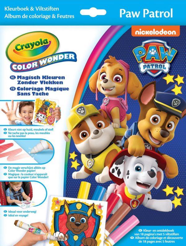 Crayola Color Wonder Paw Patrol - Kleurboek met 5 knoeivrije viltstiften